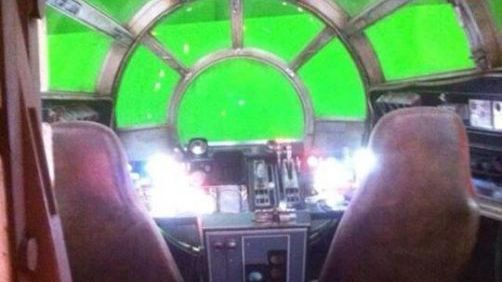 Leaked 'Star Wars VII' Set Photos Inside the Millennium Falcon