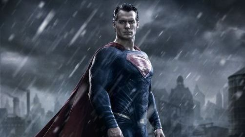 "Henry Cavill in Gritty 'Batman ""Five"" Superman' Poster"