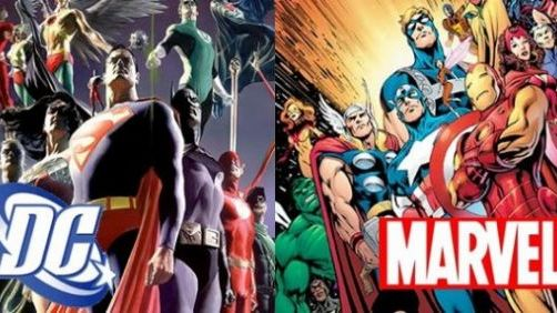 Marvel vs. DC Movie Release Schedule Infographic