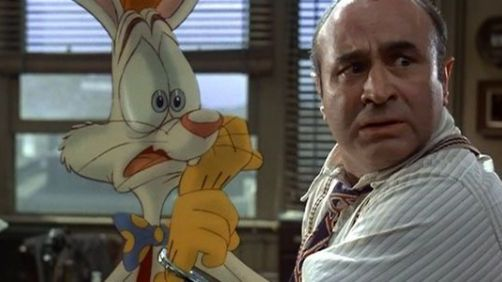 The Talented Bob Hoskins Acting on Blue Screen for 'Who Framed Roger Rabbit'
