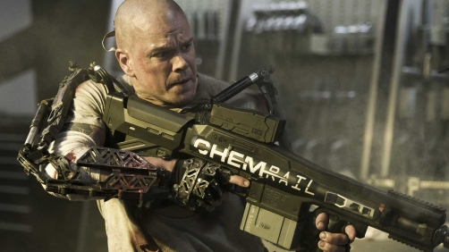 'Elysium Clip' Matt Damon Takes On a Robot