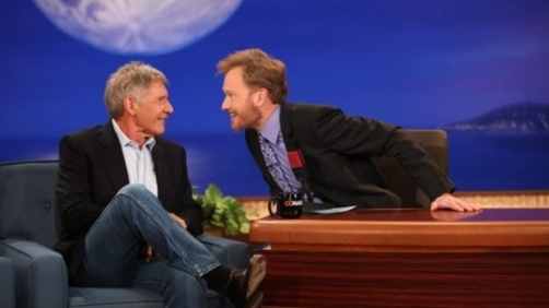 Conan Bribes Harrison Ford for 'Star Wars' Details (Video)