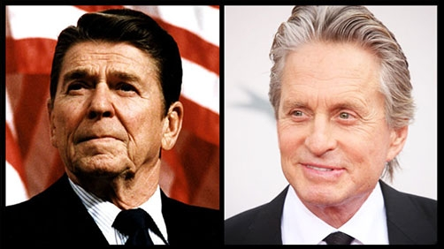 Michael Douglas as Ronald Reagan