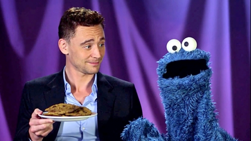 Cookie Monster and Tom Hiddleston (What More Do You Need?)