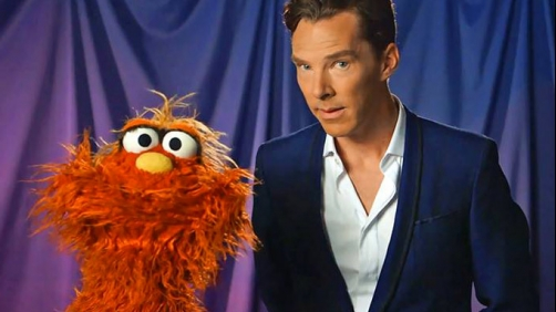"""Sherlock"" (Benedict Cumberbatch) Gets a Brain Bending Question on Sesame Street"