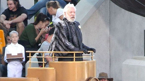 'Catching Fire' Set Photos