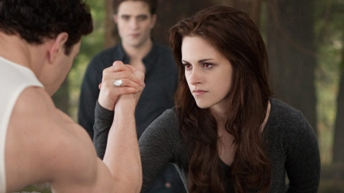 Watch Bella Beat a Vampire Hulk Arm Wrestling