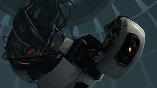 Yes, that is GLaDOS' Voice in 'Pacific Rim' Trailer