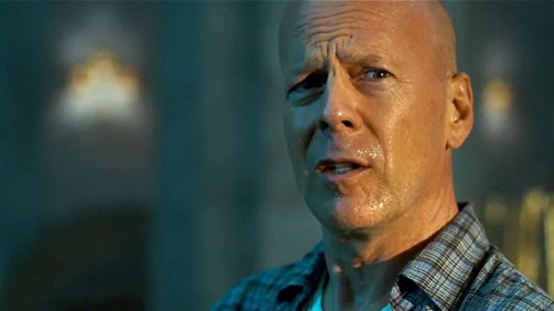 John McClane In (Causing?) Traffic Trouble In Russia