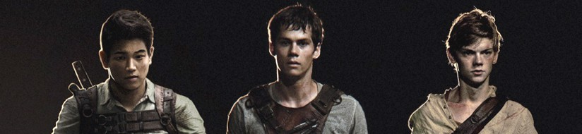 Three of the central guys in 'The Maze Runner'
